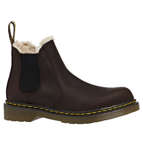 Dr. Martens 2976 Leonore Y Republic WP Leather Youth Boots#color_dark brown
