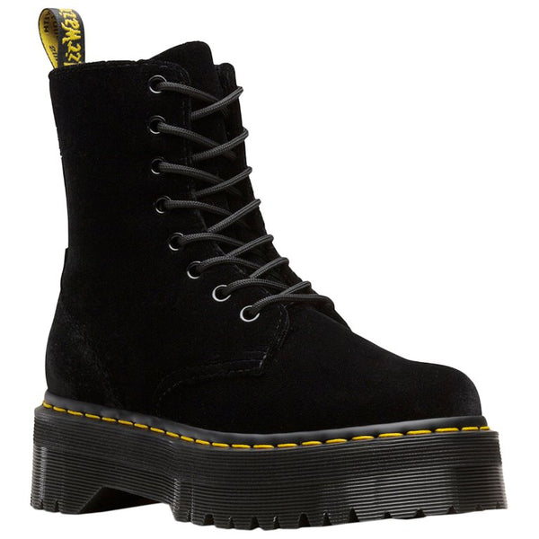 Dr.Martens Jadon Velvet Womens Boots#color_black
