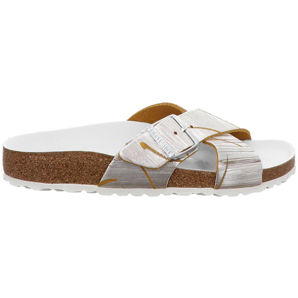 Birkenstock Siena Metallic Cuts Nubuck Womens Sandals#color_lemon