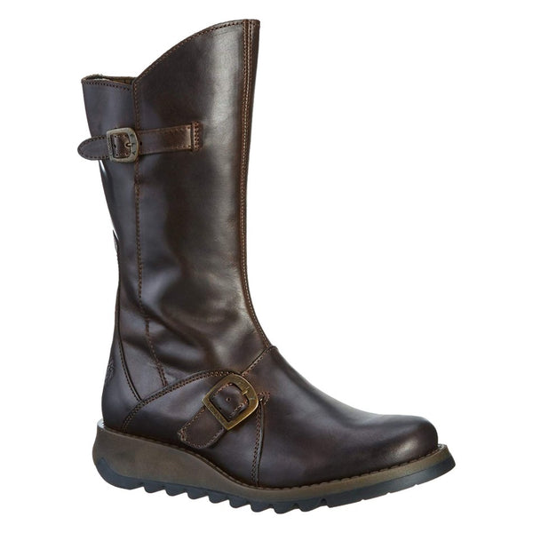 Fly London MES 2 Rug Leather Womens Boots#color_dark brown