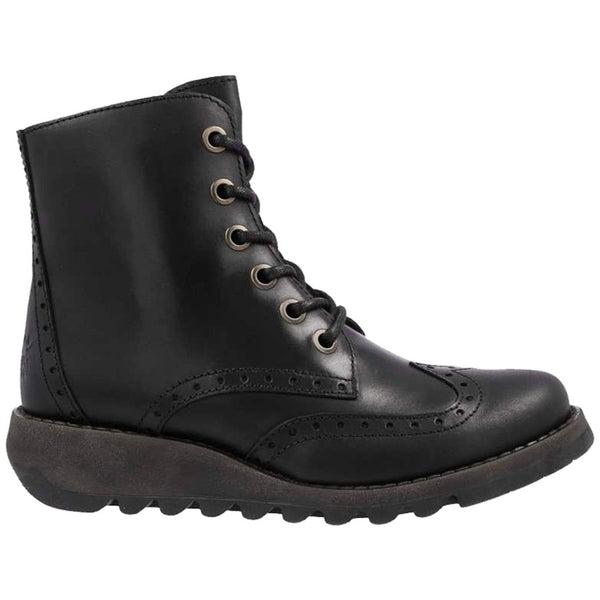 Fly London SARL069FLY Rug Leather Womens Boots#color_black