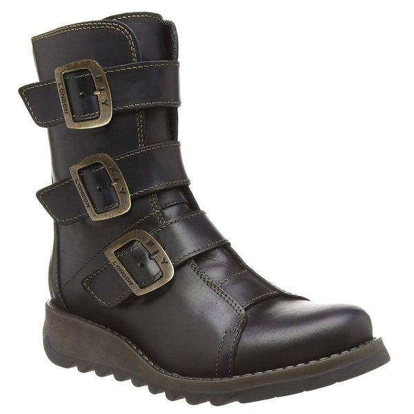 Fly London SCOP110FLY Rug Leather Womens Boots#color_black
