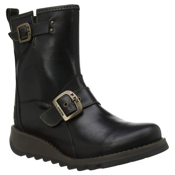 Fly London SINO525FLY Rug Leather Womens Boots#color_black