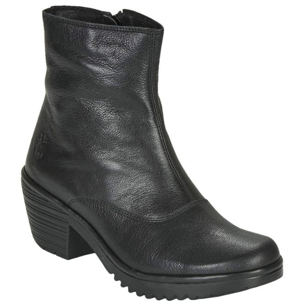 Fly London WINE054FLY Mousse Leather Womens Boots#color_black