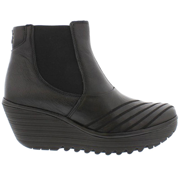 Fly London YAVE064FLY Mousse Leather Womens Boots#color_black