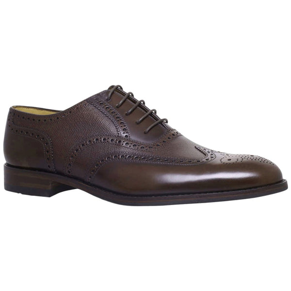 Loake Lowick Leather Mens Shoes#color_dark brown