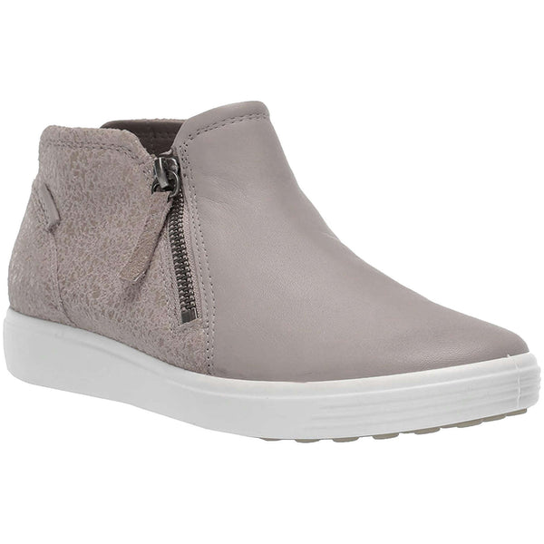 Ecco Soft 7 430243 Leather Womens Boots#color_grey rose