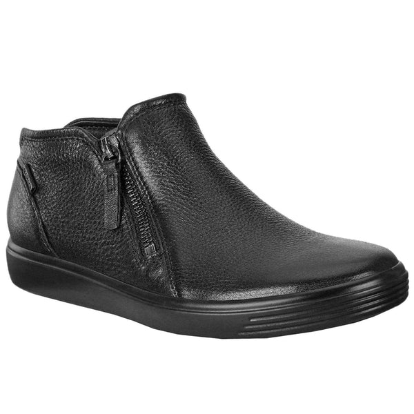 Ecco Soft 7 430243 Zip Leather Womens Boots#color_black