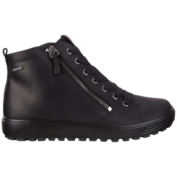 Ecco Soft 7 Tred Nubuck Womens Boots#color_black