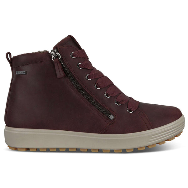 Ecco Soft 7 Tred Nubuck Womens Boots#color_chocolate