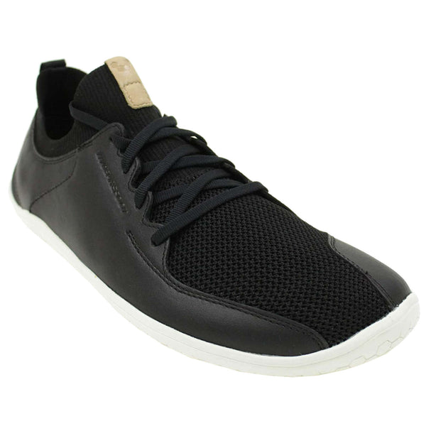 Vivobarefoot Primus Knit Leather Textile Mens Trainers#color_black