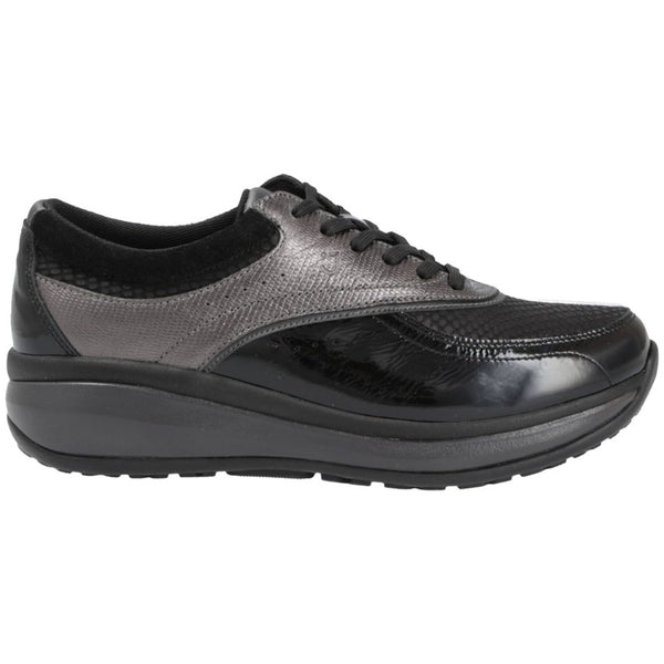 Joya Sydney Leather Womens Shoes#color_black grey