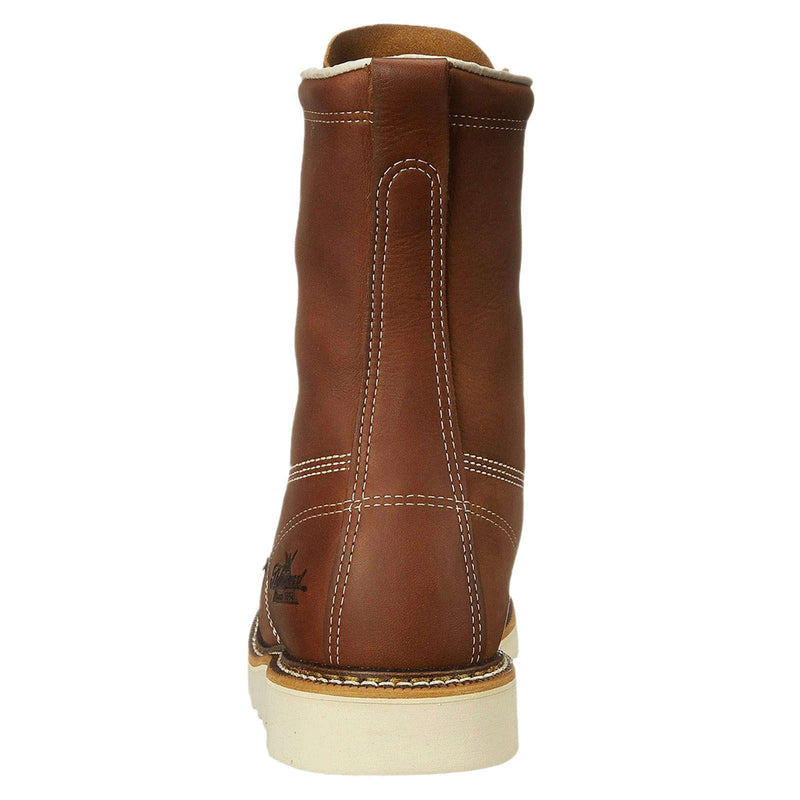 Thorogood 8 Inch Moc Toe Safety Toe Leather Mens Boots