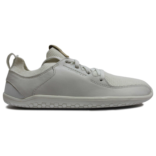 Vivobarefoot Primus Knit Leather Textile Womens Trainers#color_bright white