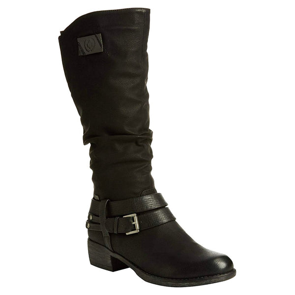Rieker Annabella 93158 Synthetic Womens Boots#color_black