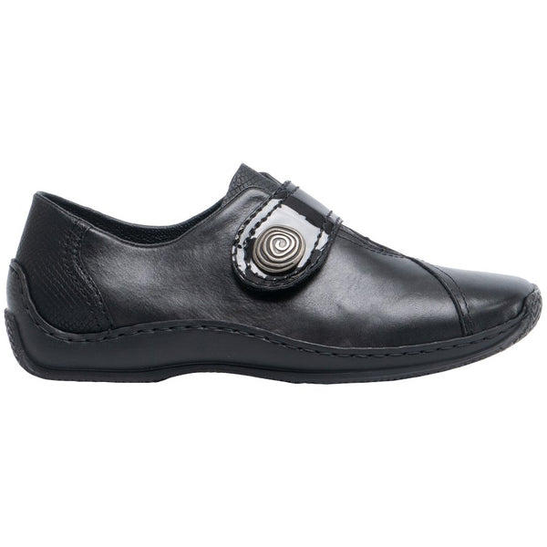 Rieker Celia L1760 Leather Womens Shoes#color_black