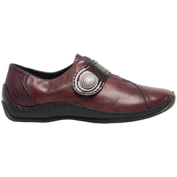 Rieker Celia L1760 Leather Womens Shoes#color_chianti
