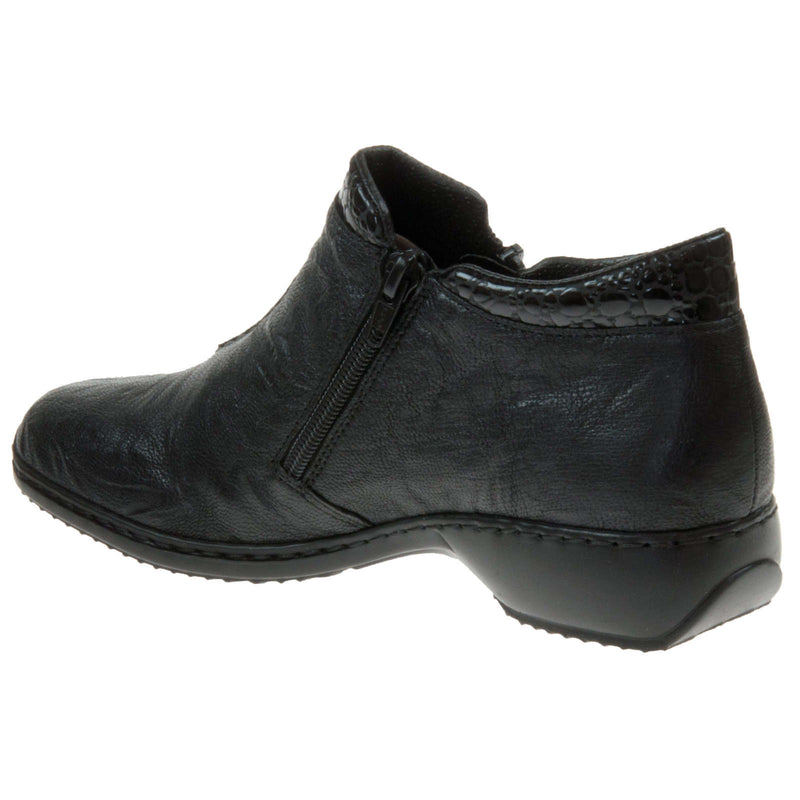 Rieker Doro L3882 Leather Womens Boots