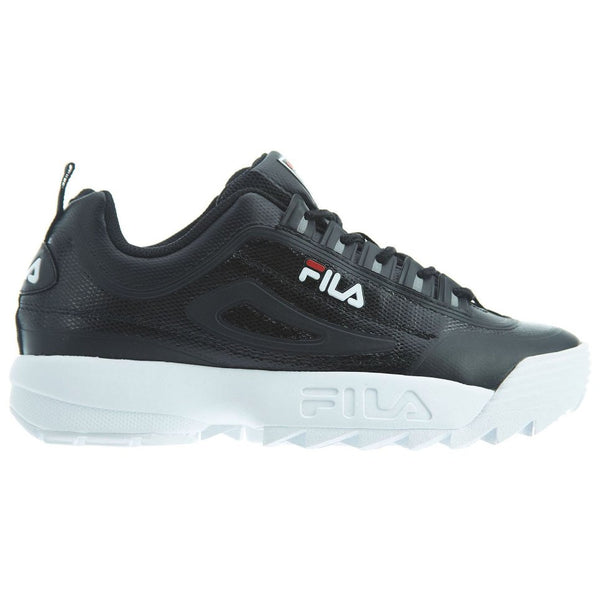Fila Disruptor II No-Sew Synthetic Mens Trainers#color_black white red