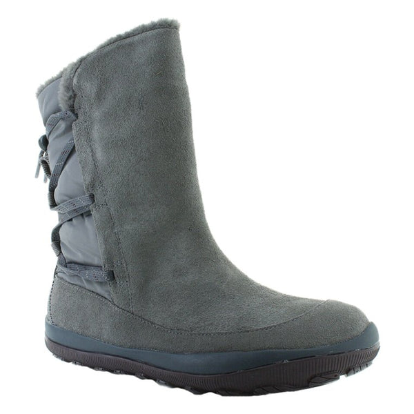 Camper Peu Pista GM K400386 Leather Textile Womens Boots#color_medium gray