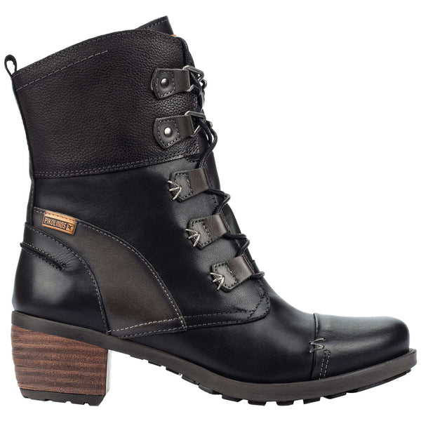 Pikolinos Le Mans 838-8990 Leather Womens Boots#color_black