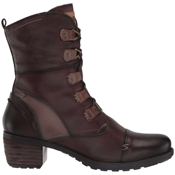 Pikolinos Le Mans 838-8990 Leather Womens Boots#color_olmo