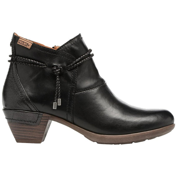 Pikolinos Rotterdam 902-8775 Leather Womens Boots#color_black