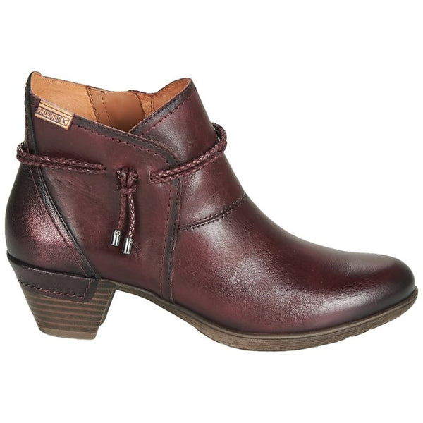 Pikolinos Rotterdam 902-8775 Leather Womens Boots#color_garnet