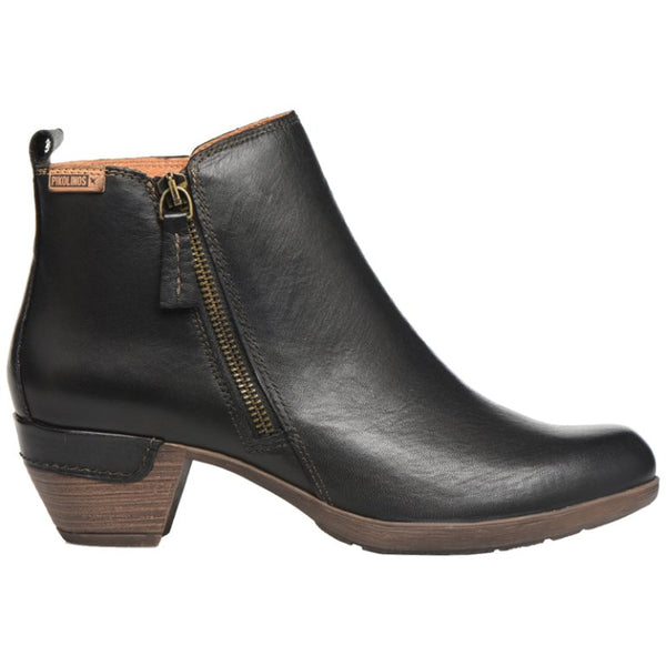 Pikolinos Rotterdam 902-8900 Leather Womens Boots#color_black