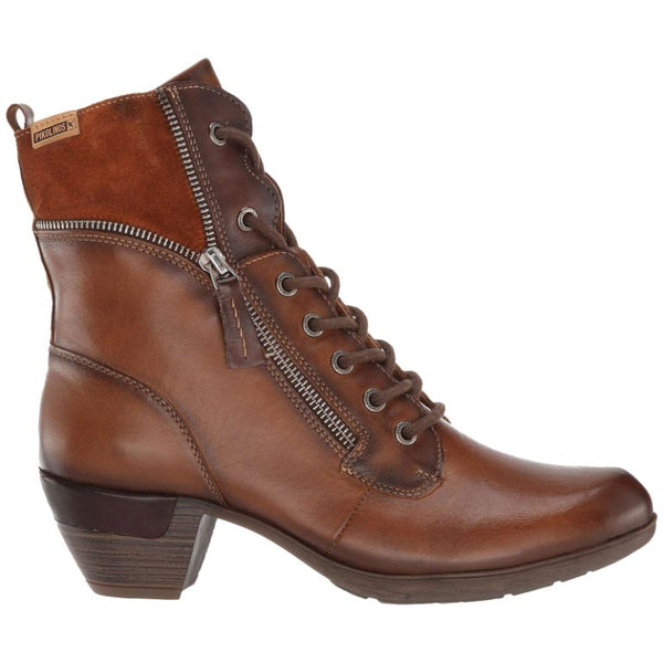 Pikolinos Rotterdam 902-9627 Leather Womens Boots#color_cuero