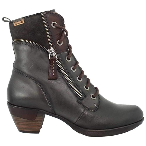 Pikolinos Rotterdam 902-9627 Leather Womens Boots#color_lead