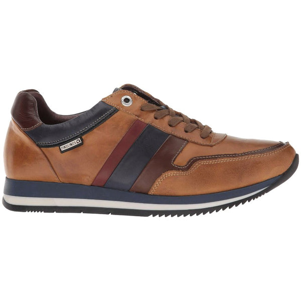 Pikolinos Palermo M3H-6215 Leather Mens Trainers#color_brandy