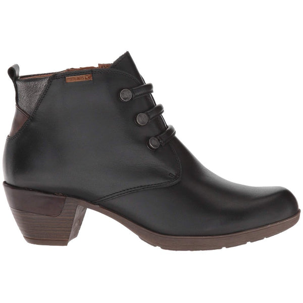Pikolinos Rotterdam 902-8746 Leather Womens Boots#color_black