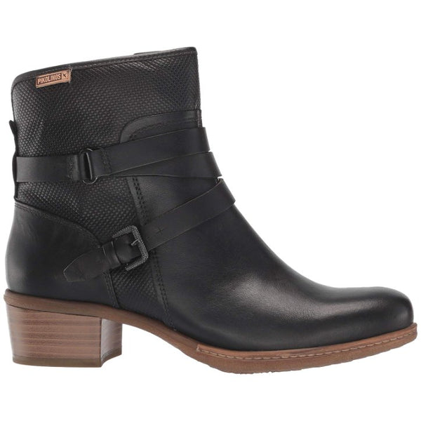 Pikolinos Zaragoza W9H-8907 Leather Womens Boots#color_black