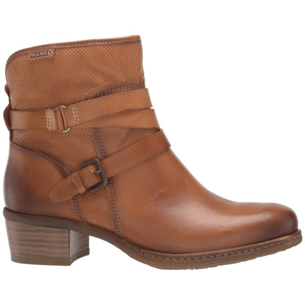 Pikolinos Zaragoza W9H-8907 Leather Womens Boots#color_brandy