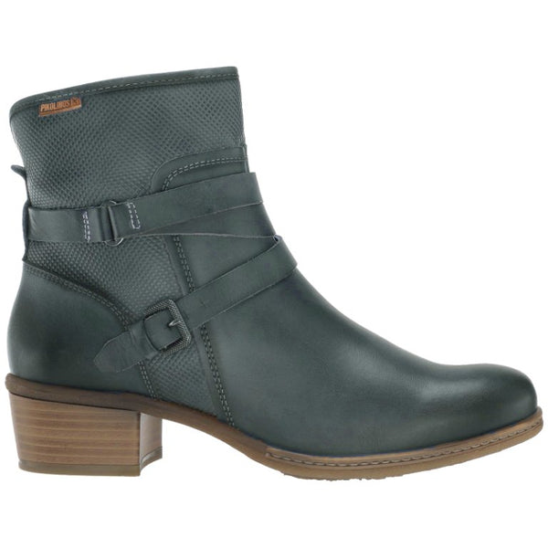 Pikolinos Zaragoza W9H-8907 Leather Womens Boots#color_ocean