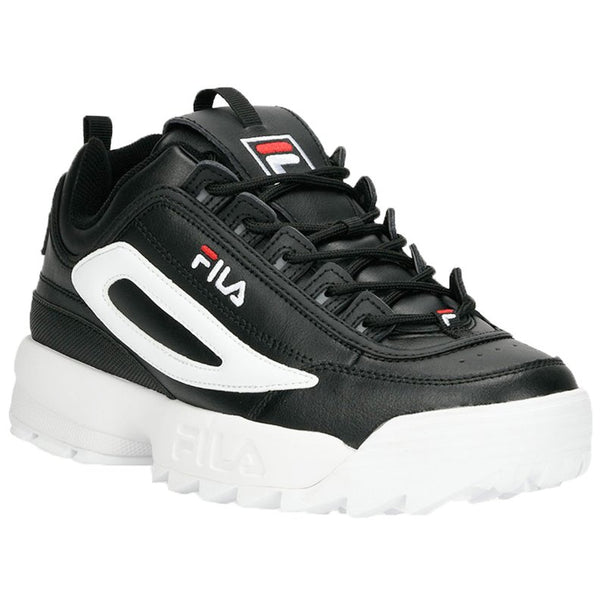 Fila Disruptor II XL Leather Synthetic Mens Trainers#color_black white red