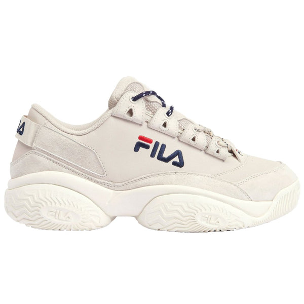 Fila Provenance Suede Womens Trainers#color_gardenia navy red