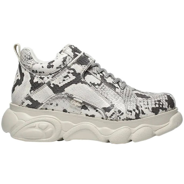 Buffalo Corin Synthetic Leather Womens Trainers#color_snake multicolor