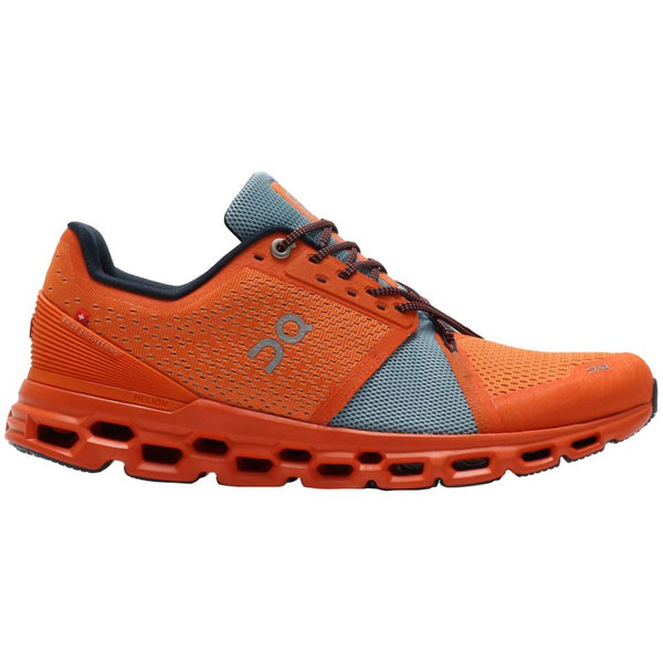 On Running Cloudstratus Textile Synthetic Mens Trainers#color_orange wash