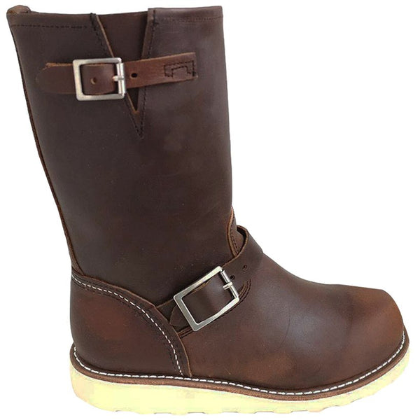 Red Wing Classic Engineer Leather Womens Boots#color_copper rough tough