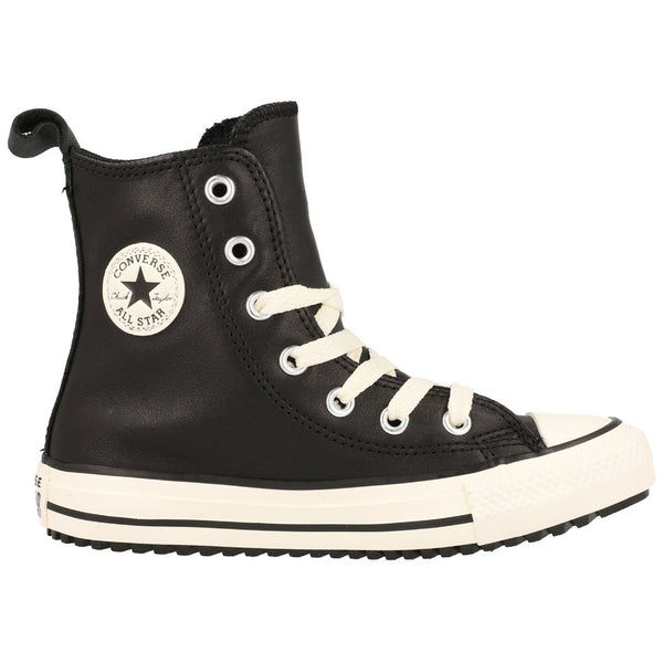 Converse Ctas Boot X-Hi Leather Youth Trainers#color_black white