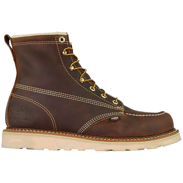 Thorogood 6 Inch Moc Toe Non Safety Leather Mens Boots#color_brown