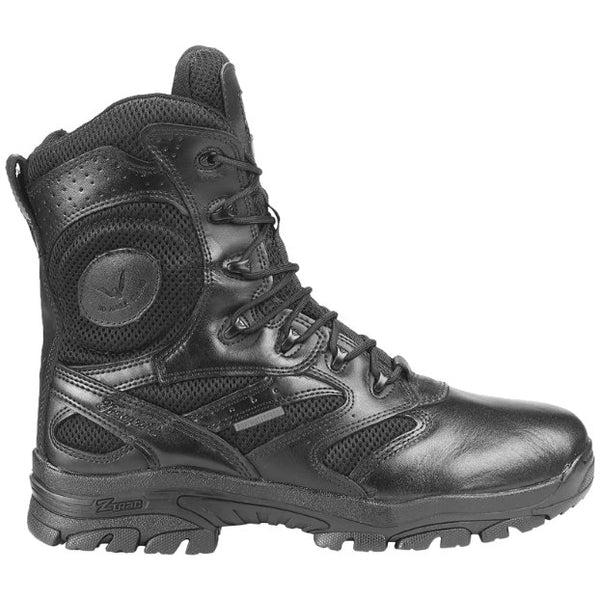 Thorogood Deuce Z-Trac 8 Inch Waterproof Side Zip Leather Mens Boots#color_black
