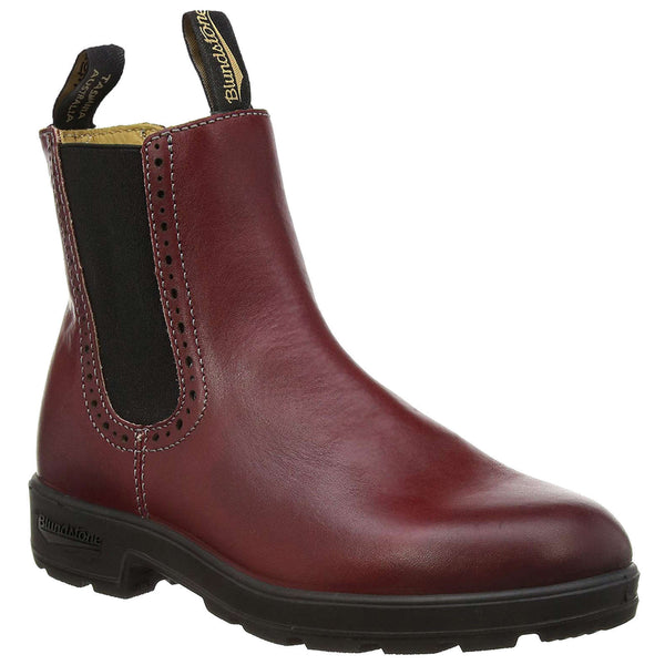 Blundstone 1443 Leather Womens Boots#color_burgundy rub