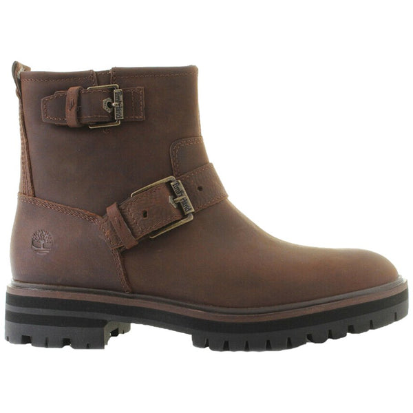Timberland London Square Biker Leather Womens Boots#color_medium brown