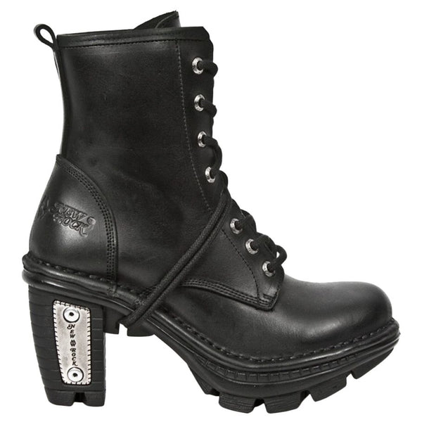 New Rock Neotrail M-NEOTR008-S1 Leather Womens Boots#color_black