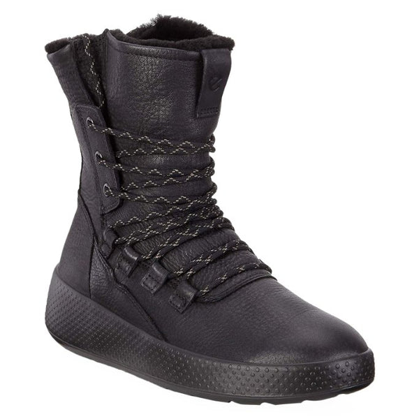 Ecco Ukiuk Leather Womens Boots#color_black