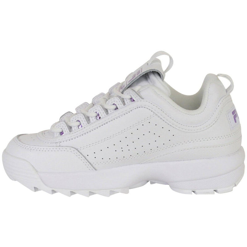 Fila Disruptor II Metallic Accent Leather Synthetic Womens Trainers