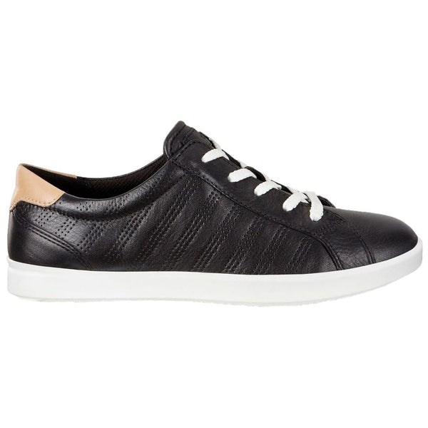 Ecco Leisure 205033 Leather Womens Trainers#color_black powder